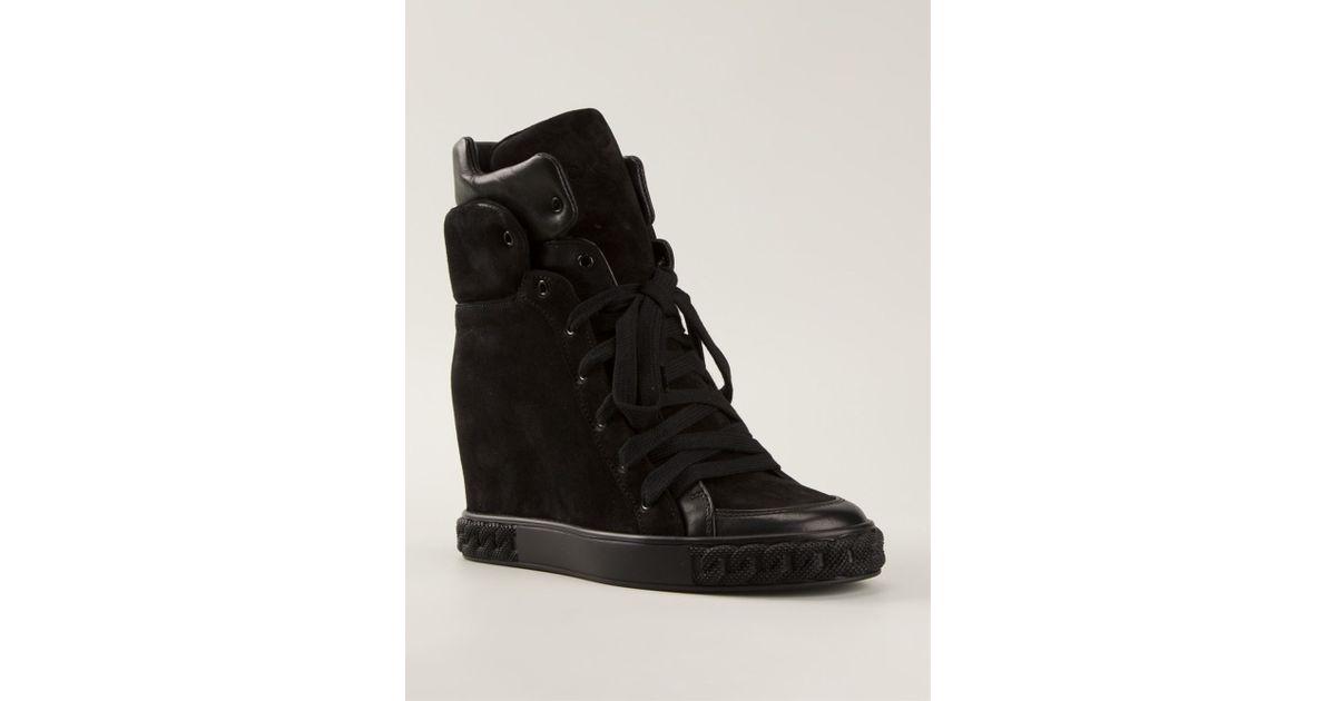1d499acbea3 Lyst - Casadei Wedge Sneakers in Black