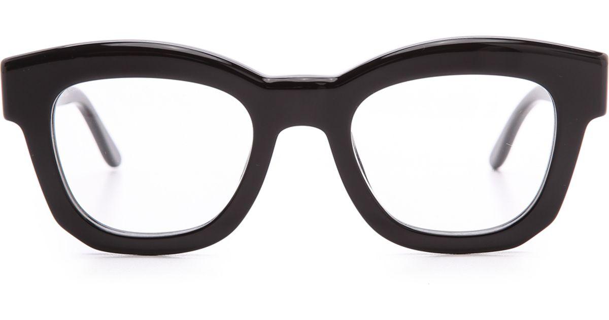 4aefd4f36cf Lyst - Stella McCartney Thick Frame Glasses - Brown in Black
