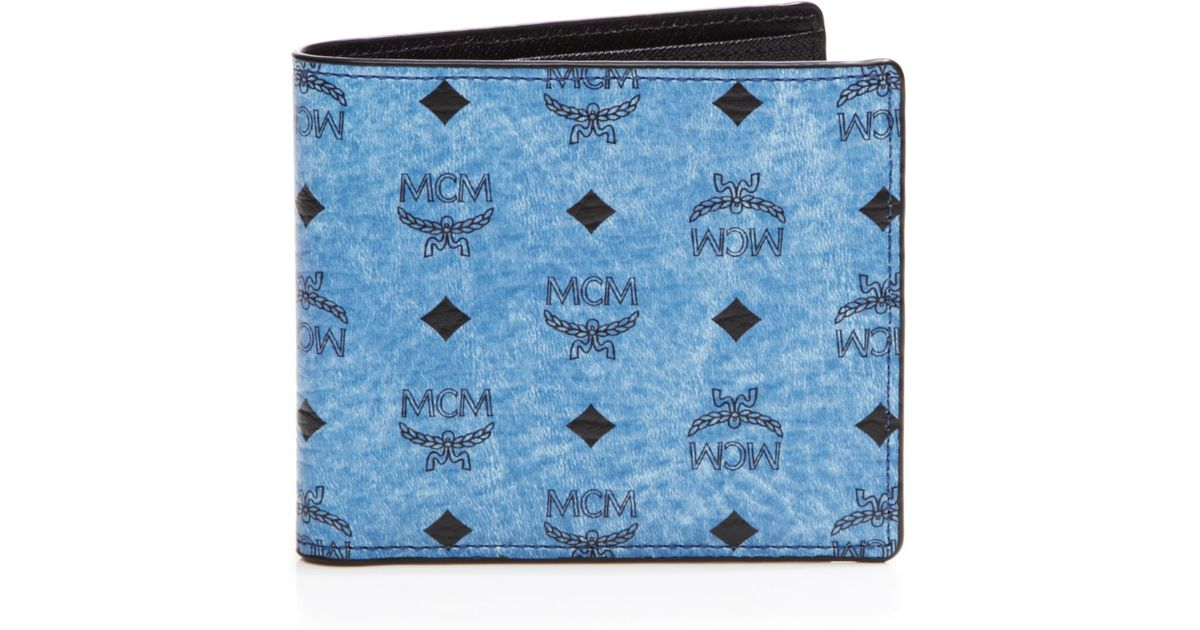 32860012787c MCM Claus Bi-fold Wallet in Blue - Lyst