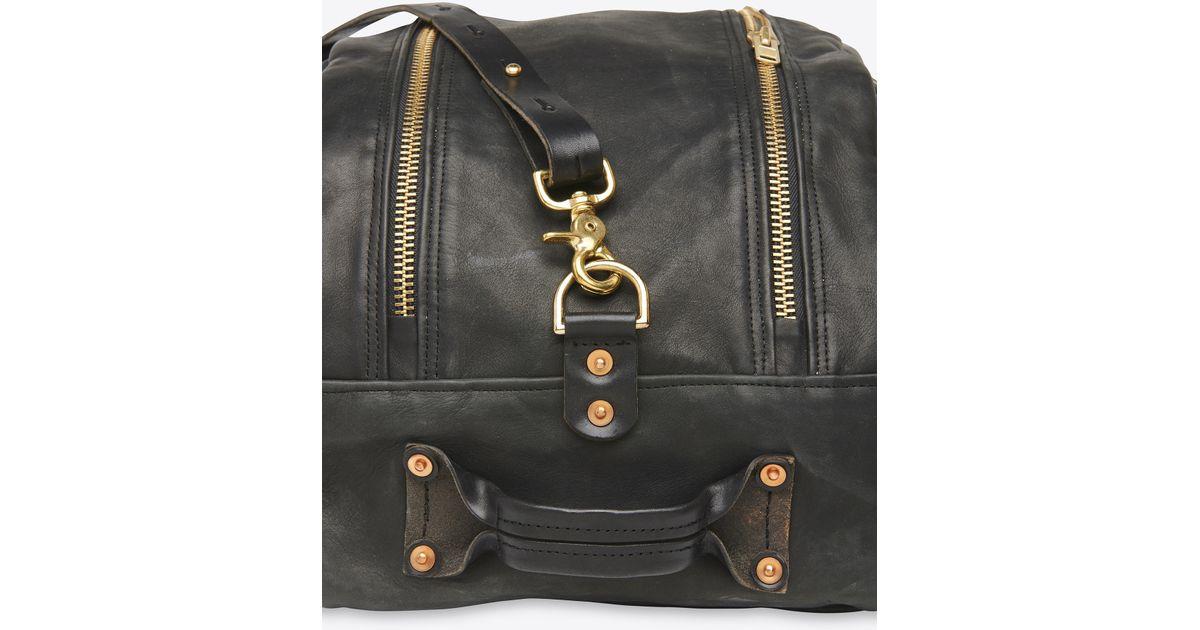 21710dcce7 Lyst - Billy Reid Double Zip Duffle Bag (pre Sale) in Black for Men