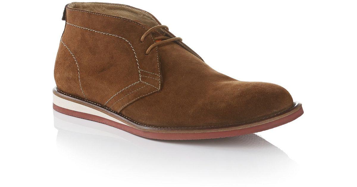 275f8d00e4a5 BOSS Orange Suede Desert Boots   volentin  in Brown for Men - Lyst