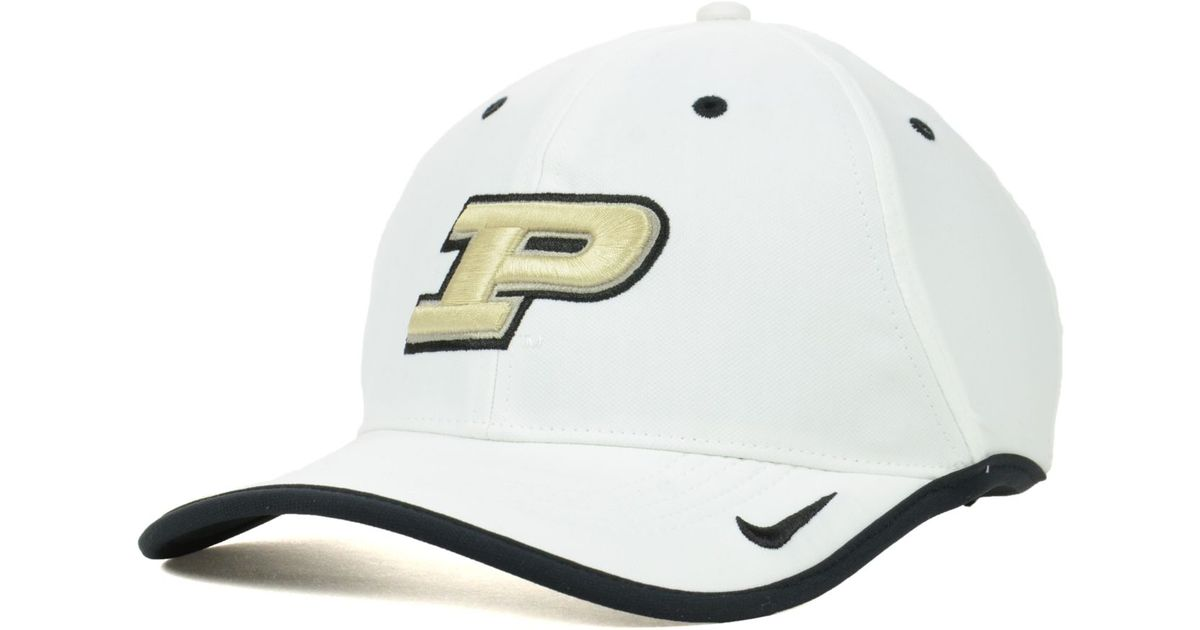 Lyst - Nike Purdue Boilermakers Ncaa Coaches Cap in White for Men 0ac7cf23b50b