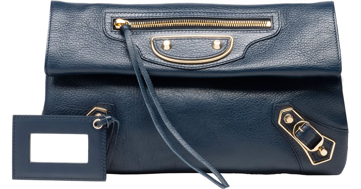 0155ac617770 Lyst - Balenciaga Classic Metallic Edge Envelope Strap in Blue
