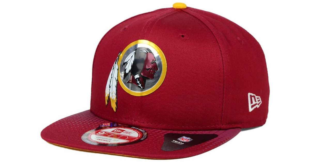 9a347e781 Lyst - KTZ Washington Redskins 2015 Nfl Draft 9fifty Snapback Cap in Red  for Men