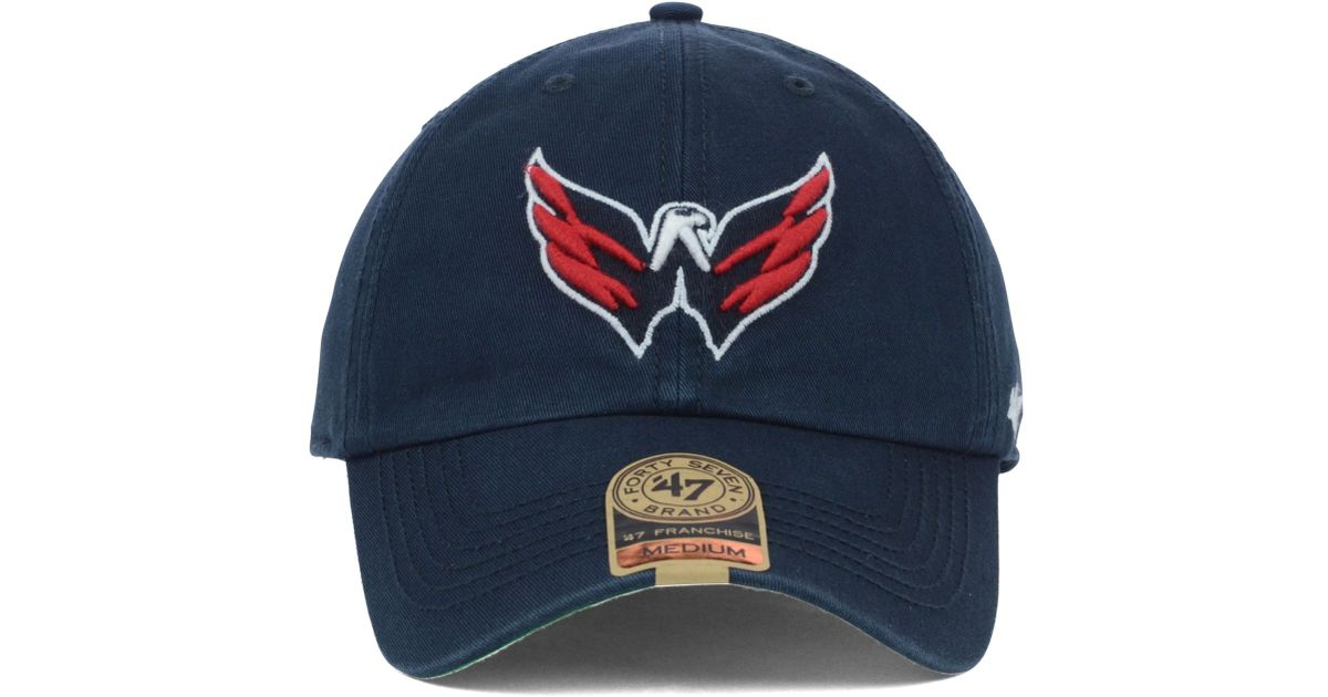 ... low cost lyst 47 brand washington capitals franchise cap in blue for  men 63a6b a43e8 867715e5e3d2