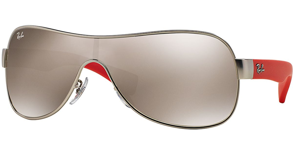f0a3591f756d0 Ray-Ban Mirror Shield Sunglasses in Brown - Lyst