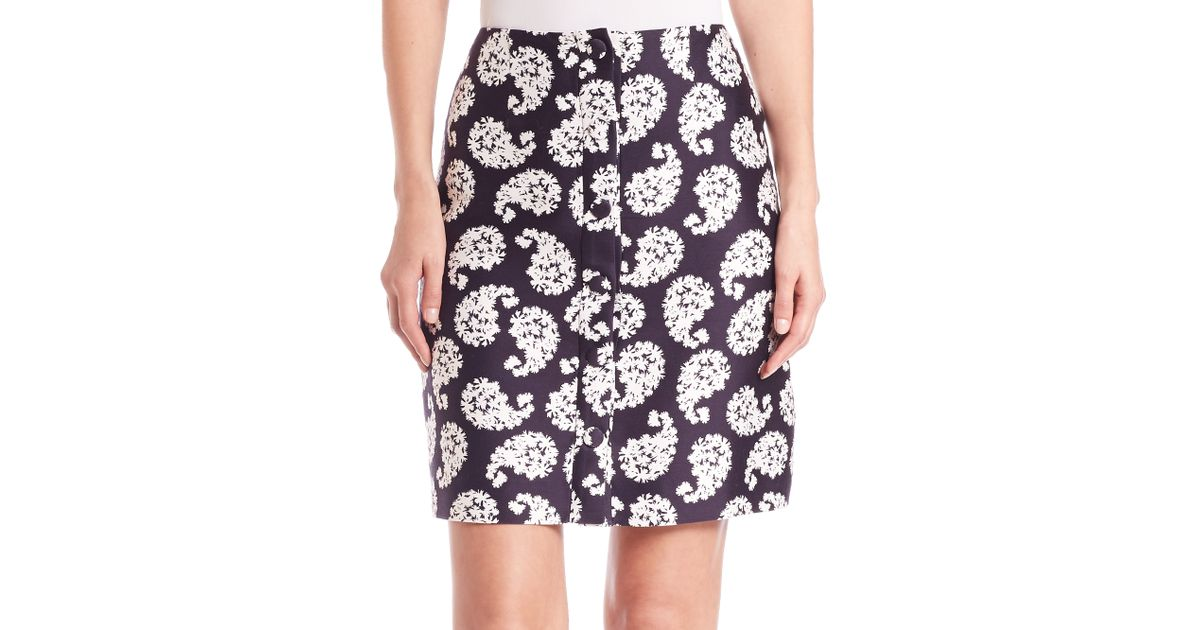 of pearl ellis printed a line skirt lyst