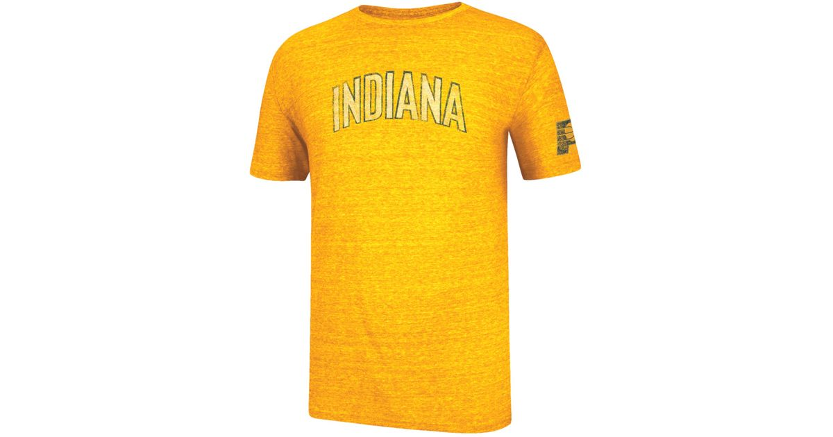 4e4c7cc689d182 Lyst - adidas Originals Sports Licensed Division Men's Short-sleeve Indiana  Pacers Tri-blend T-shirt in Metallic for Men