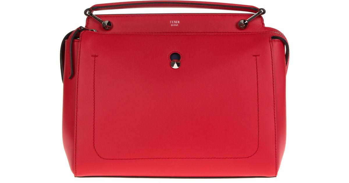 0fa0e76c6d11 ... best price lyst fendi dotcom leather bag in red 9ca4c 2adad ...
