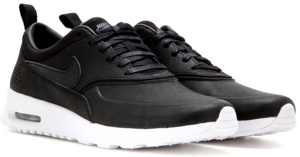 lowest price 1dd16 b9bda clearance nwt nike air max thea premium black leather 9741e aab2d  promo  code for lyst nike air max thea jolie leather sneakers in black e9a6a e765f