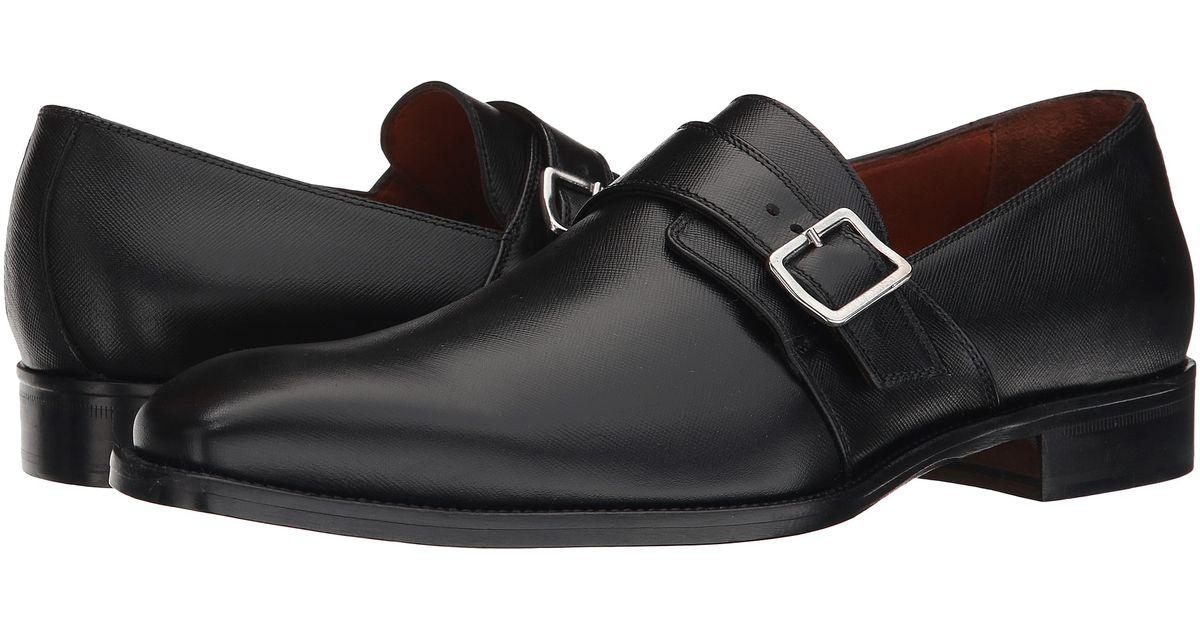 Black Shoes Monk Strap Matte