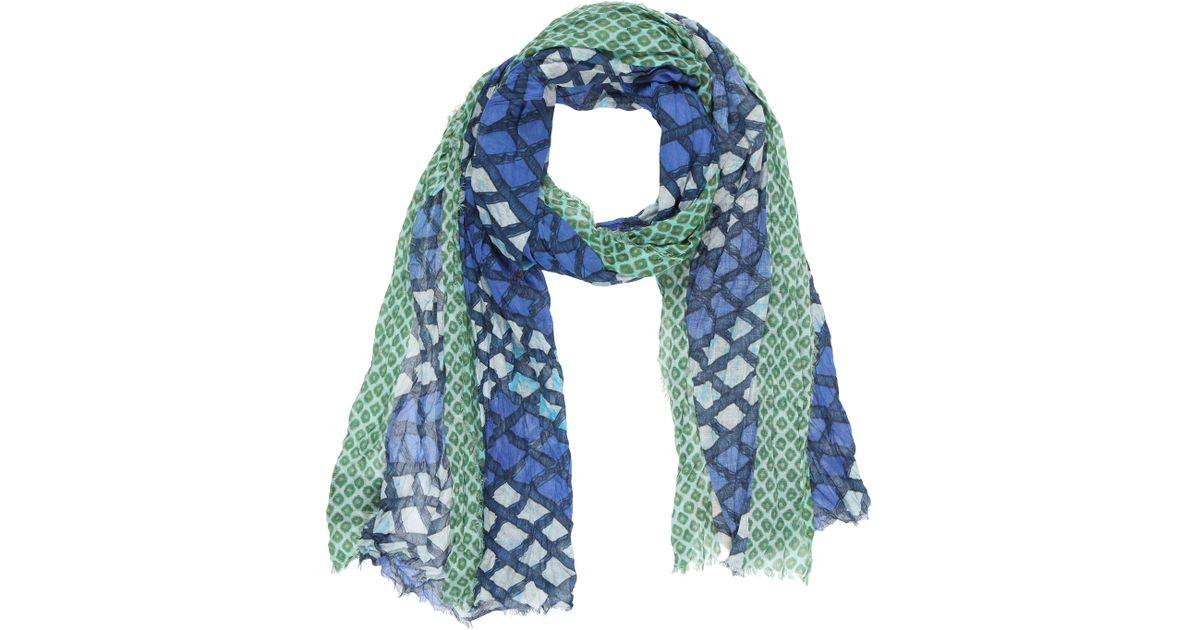 scotch soda scarf in green for lyst
