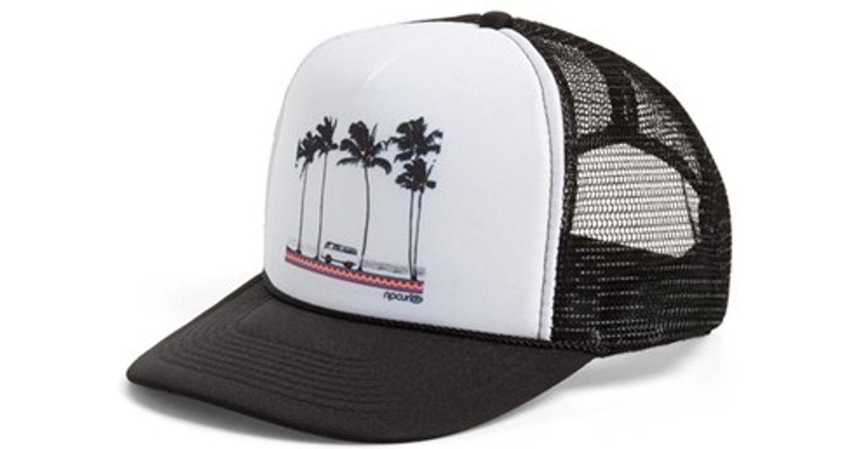 e1a76f1d4ac Lyst - Rip Curl  born Traveler  Trucker Hat in Black for Men