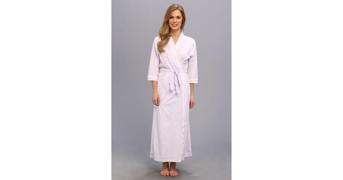 Lyst - Carole Hochman Eyelet Long Robe