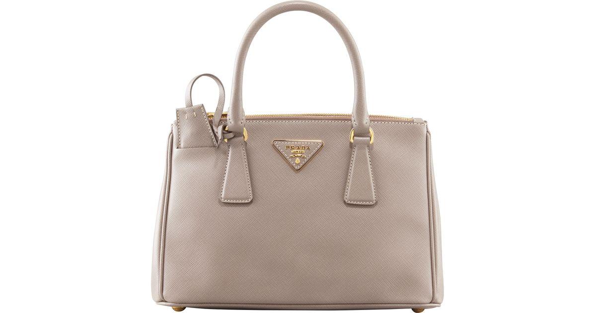 ... ireland lyst prada mini saffiano lux tote bag in gray 929b1 a3ab5 cdb6575d03cfb
