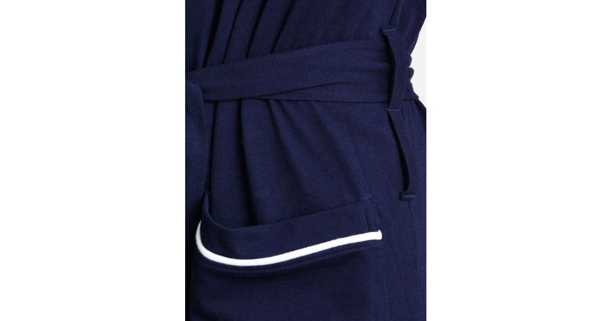 Polo Ralph Lauren Cotton Jersey Piped Dressing Gown in Blue for Men ...
