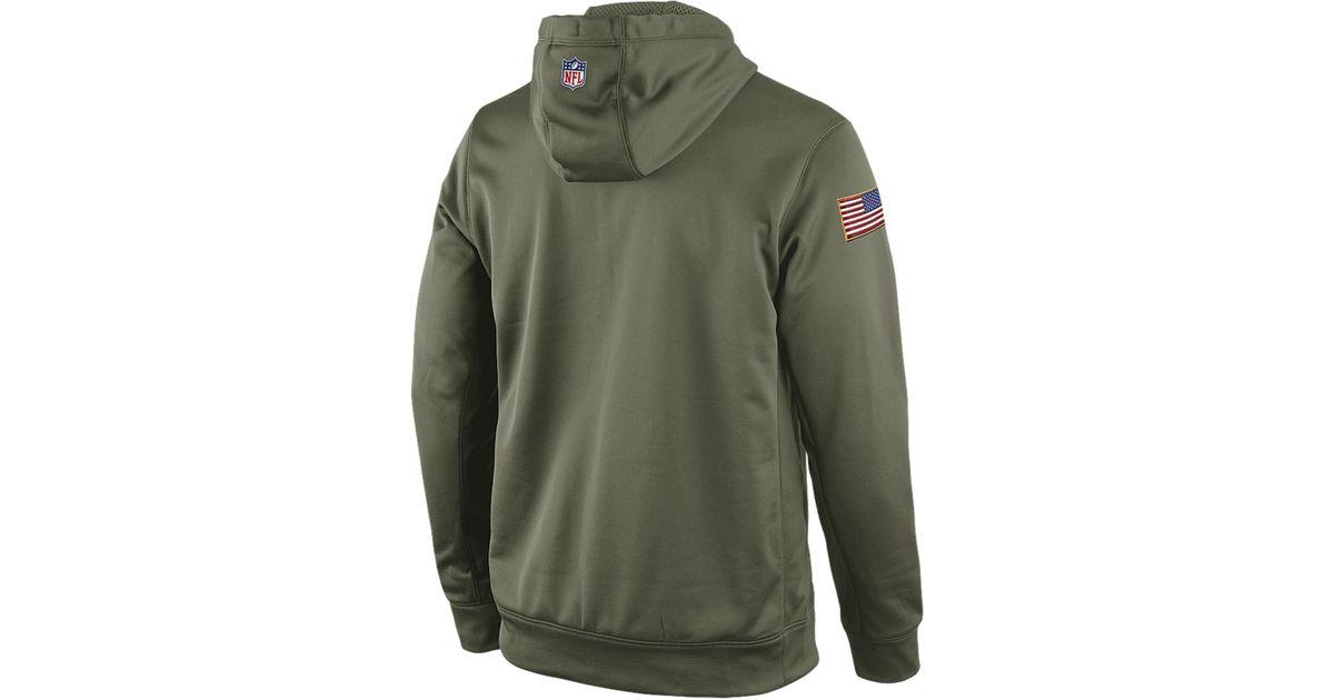 Lyst - Nike Men S St. Louis Rams Salute To Service Ko Hoodie in Green for  Men c728e2e09