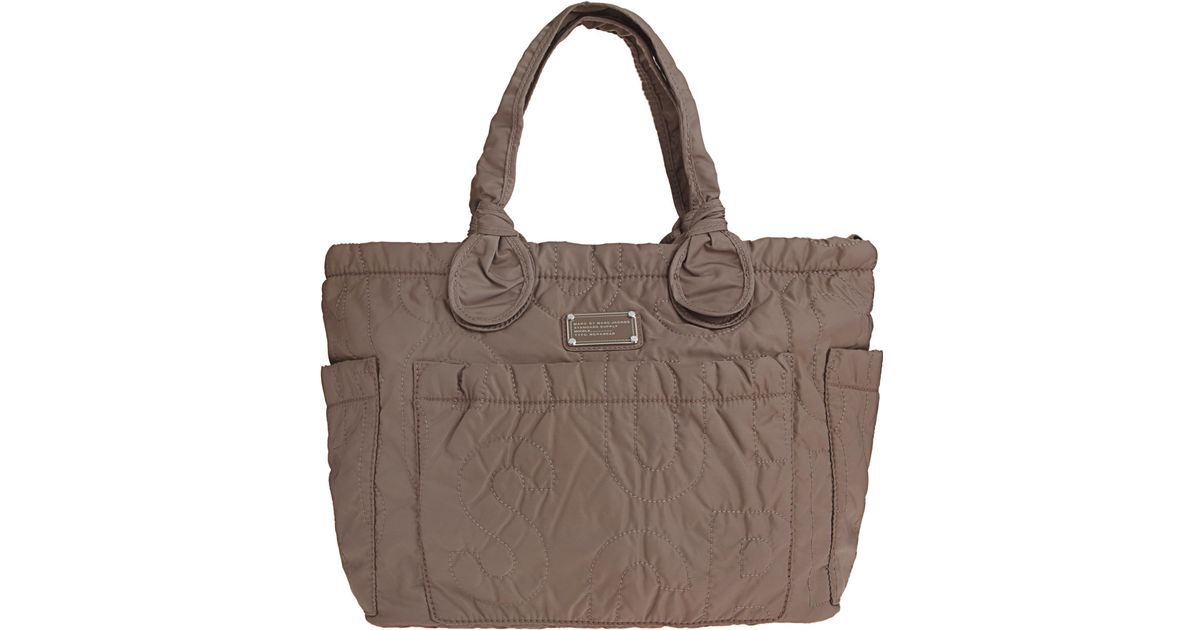 marc jacobs preppy eliz a baby diaper bag in gray lyst. Black Bedroom Furniture Sets. Home Design Ideas