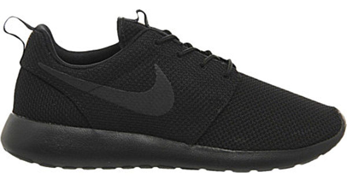 e6e6cbd92bee ... best lyst nike roshe run mesh trainers in black for men 1f1d7 f1605