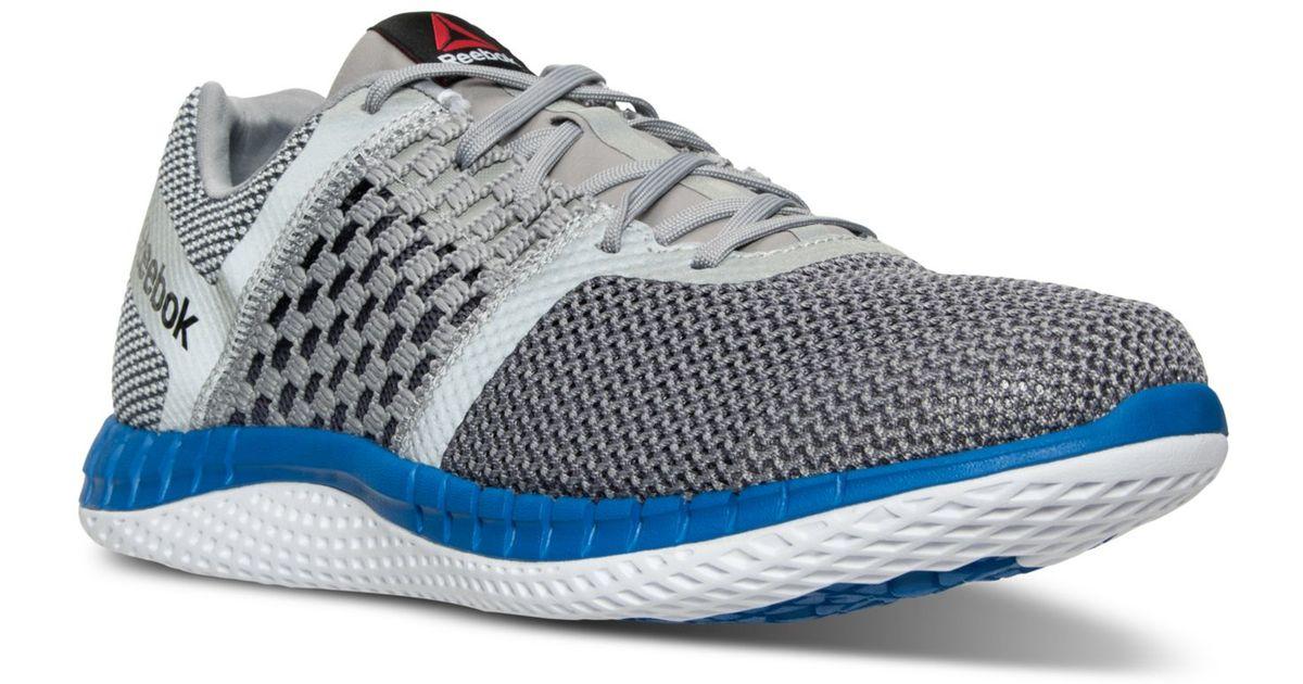 Lyst - Reebok Men s Zprint Run Running Sneakers From Finish Line in Gray  for Men ee9ecb060
