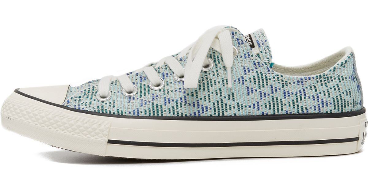 84029fb7a53bf Converse Chuck Taylor All Star Raffia Sneakers in Blue - Lyst