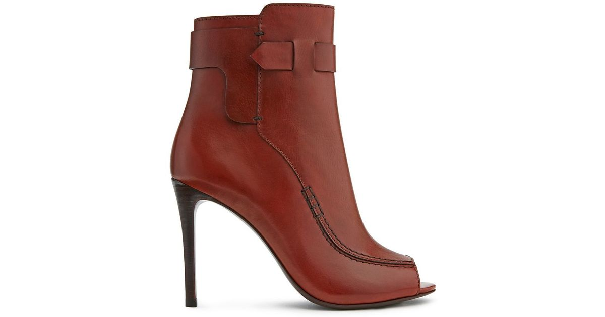 Tory Burch Leather Peep-Toe Boots sale professional looking for for sale 2014 new for sale rl9Kccn