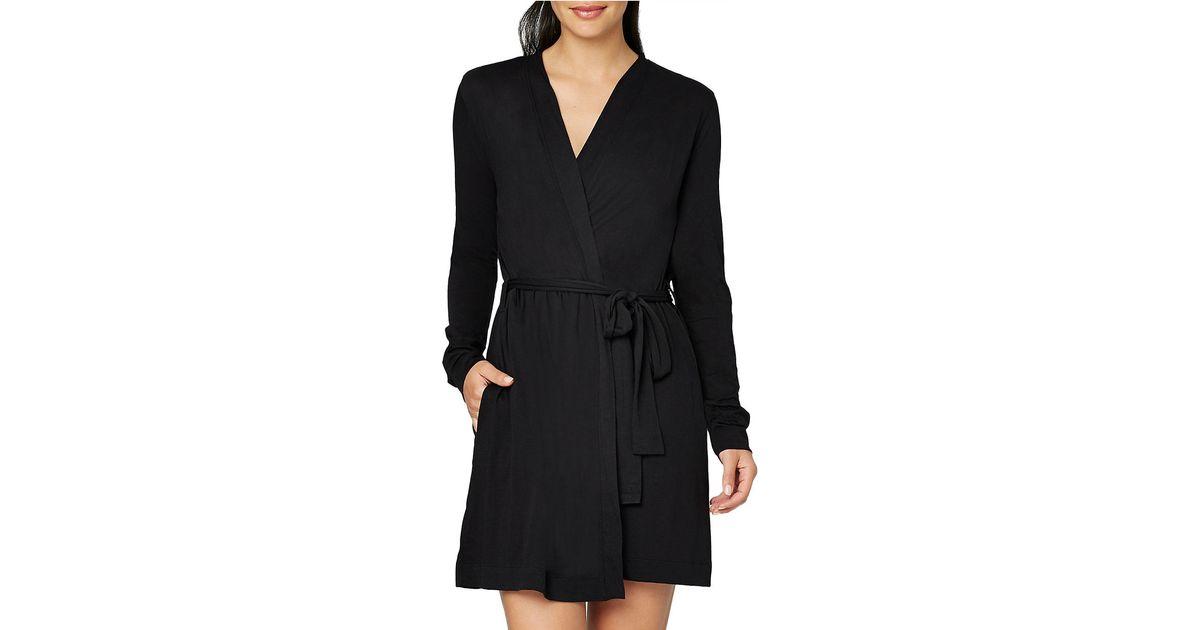 Lyst - Yummie By Heather Thomson Pima Jersey Wrap Robe in Black 428bb77cf