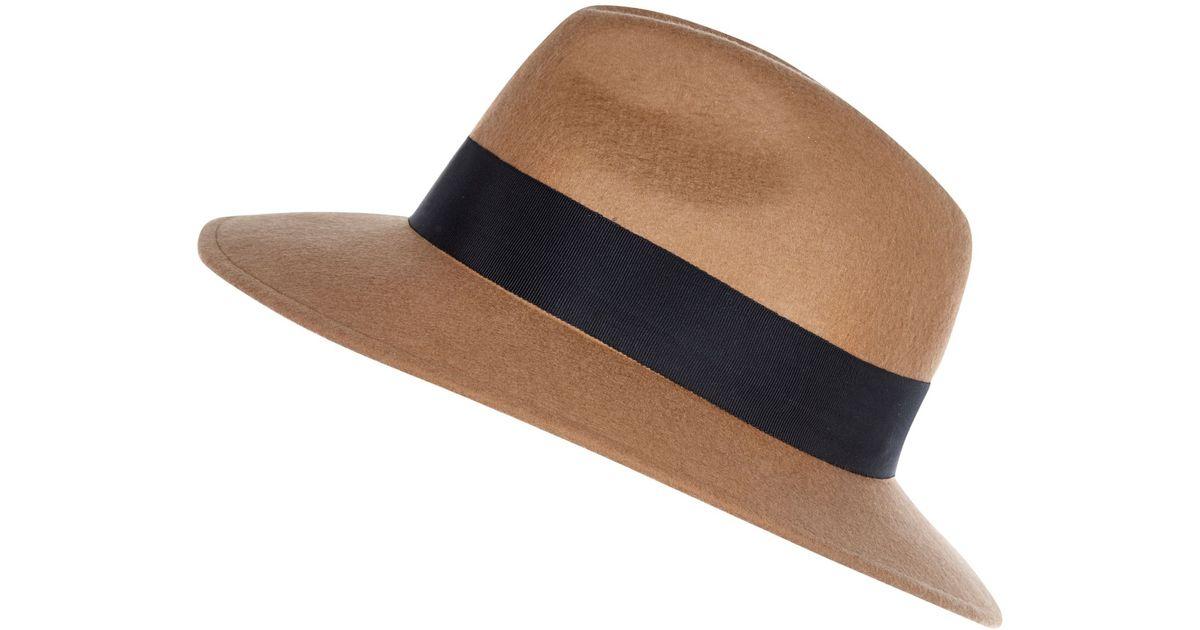 311ecd259 River Island - Brown Camel Fedora Hat - Lyst