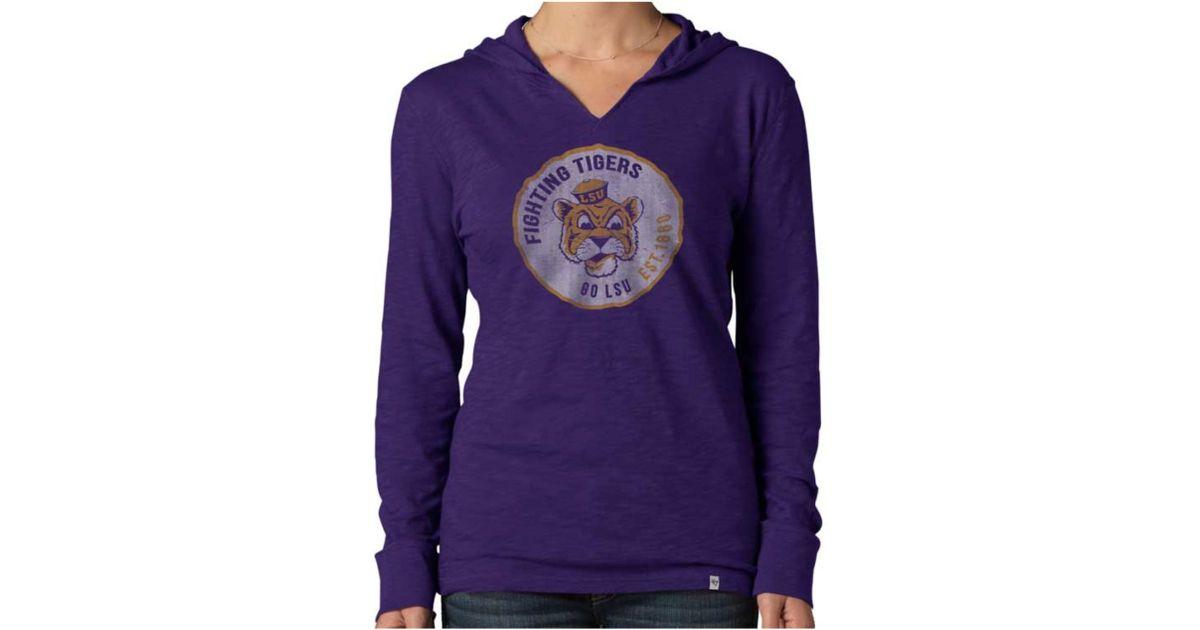 3bddc74b2dcd0 Lyst - 47 Brand Women's Lsu Tigers Primetime Hoodie in Purple