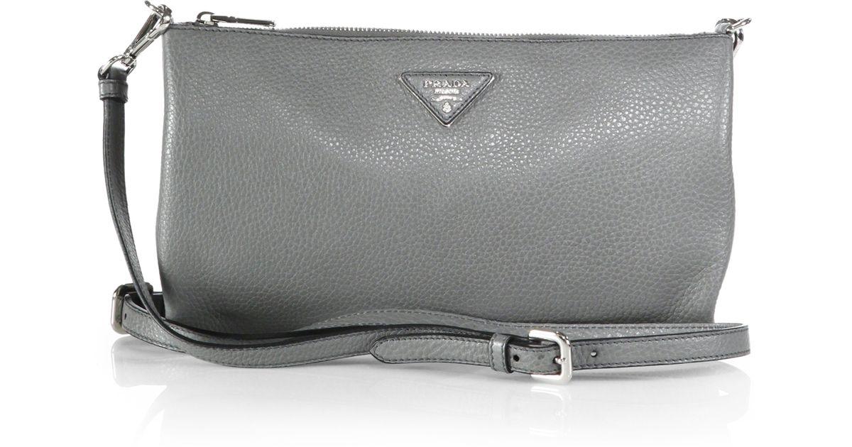 52af95c69205 Lyst - Prada Daino Crossbody Bag in Gray