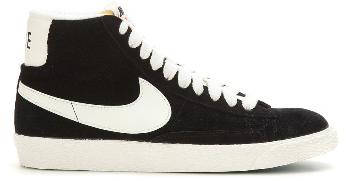 best website a2d7a b5f6d Lyst - Nike Blazer Mid Vintage Suede High-top Sneakers in Bl