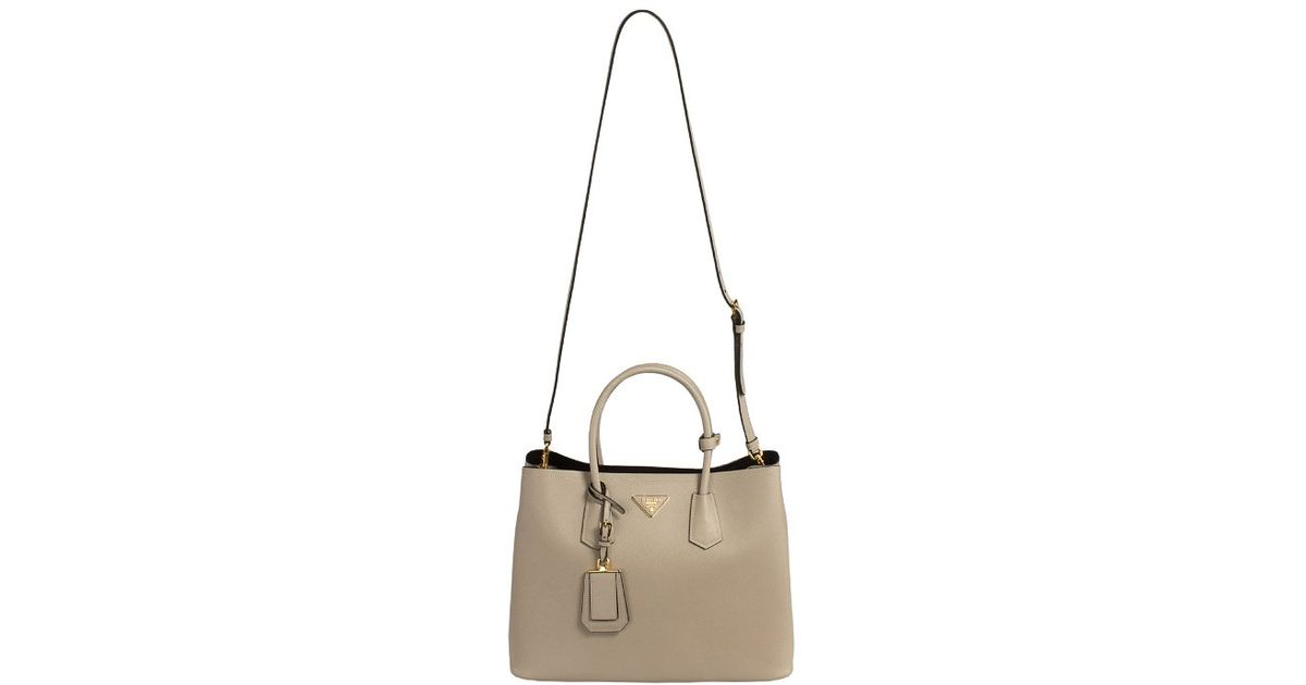 026aa5e0b3a ... where to buy lyst prada bn2756 bag f0ty5 pomice light grey saffiano  cuir leather tote in