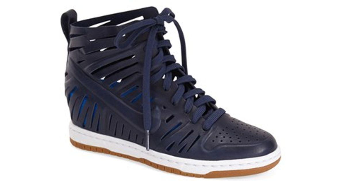 60aaeb13cce Lyst - Nike  dunk Sky Hi Joli  Hidden Wedge Sneaker in Blue