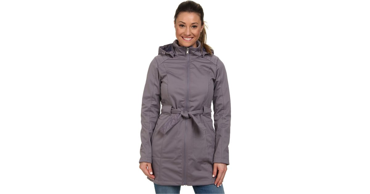 e7ae7c93b4bf ... spain lyst the north face sashanna soft shell jacket in gray bf8a0 28d06