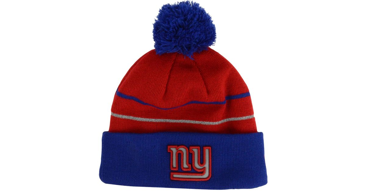 Lyst - Ktz New York Giants Thanksgiving On Field Reflective Sport Knit Hat  in Red for Men 9971bd842