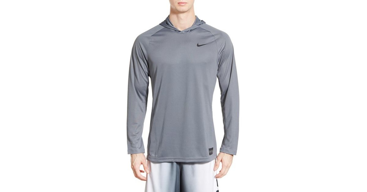 935d85d385a Lyst - Nike 'elite Shooter - Dri-fit' Long Sleeve Hooded Basketball Shirt  in Gray for Men