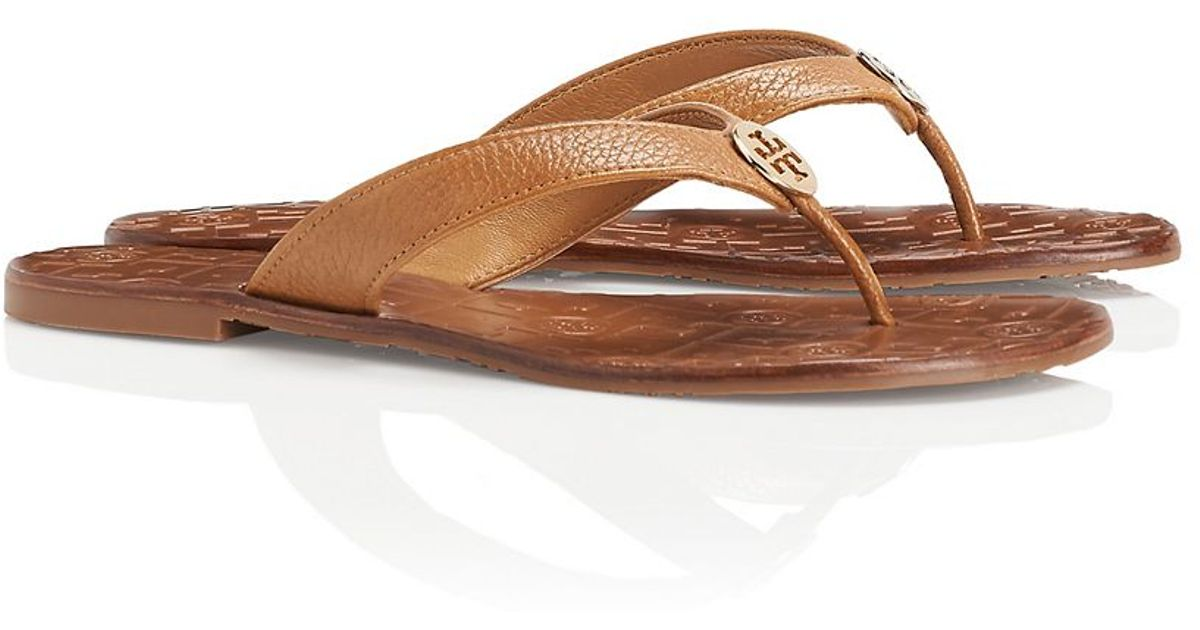 c91cf5106f3 ... gold size 9 001c7 5109d  czech tory burch thora thong sandal in brown  lyst b98fd 7bc26