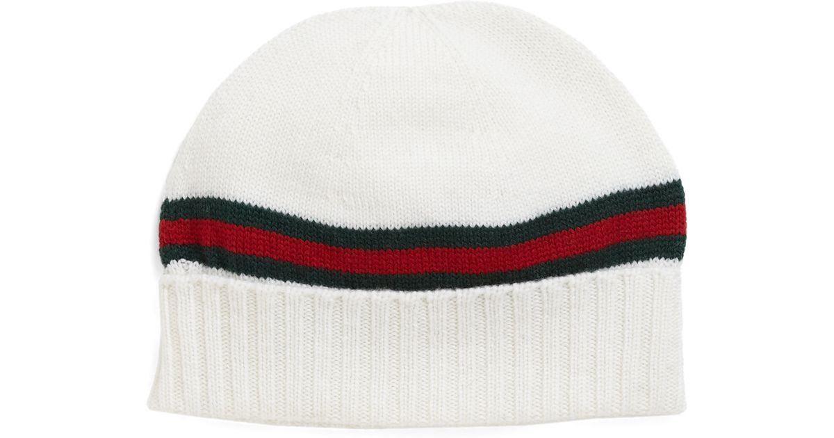 Lyst - Gucci Knit Hat in Black for Men 54510b02090