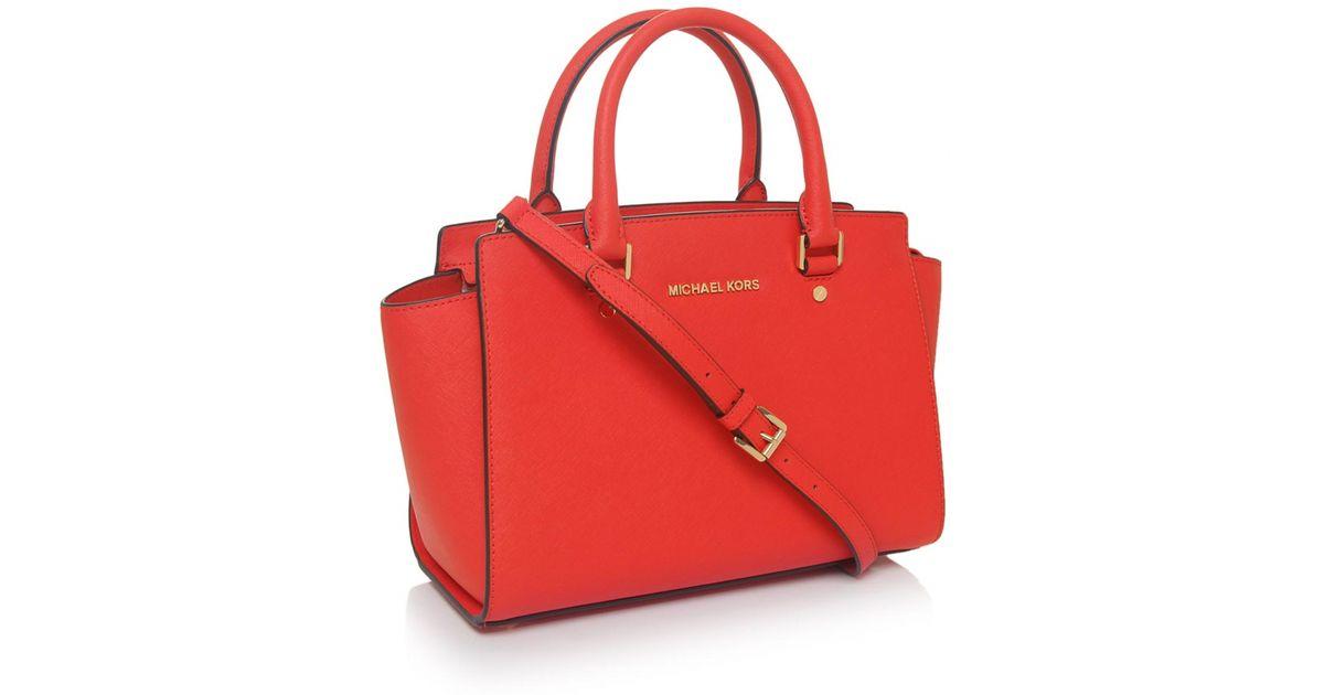 9f6c267e4afd MICHAEL Michael Kors Selma Medium Tote Bag in Orange - Lyst