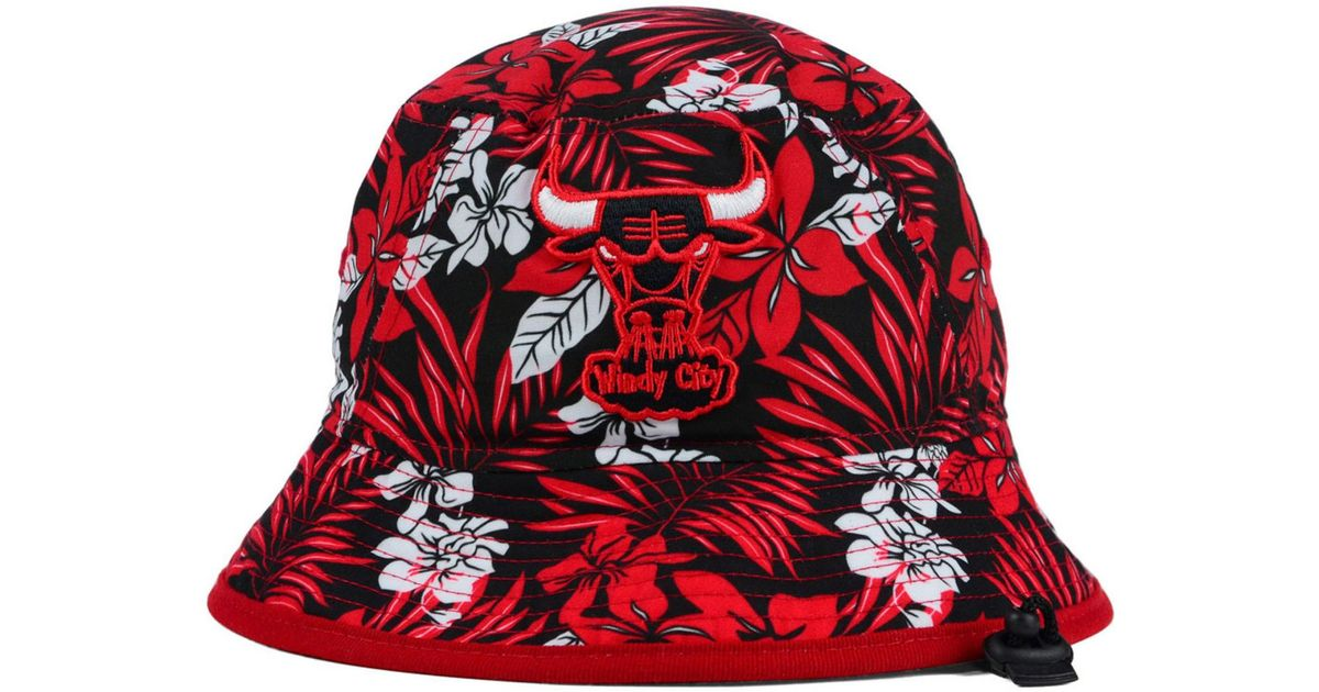 996a698115b Lyst - KTZ Chicago Bulls Wowie Bucket Hat in Red for Men
