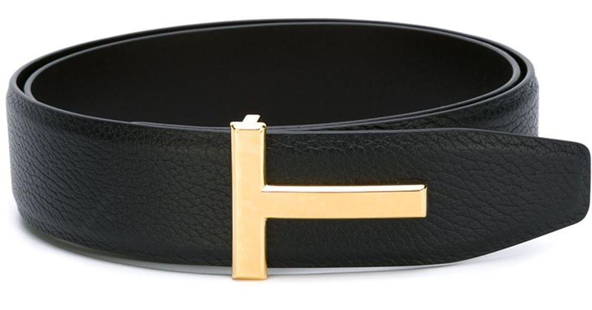 T buckle belt - Black Tom Ford 9tq9kt
