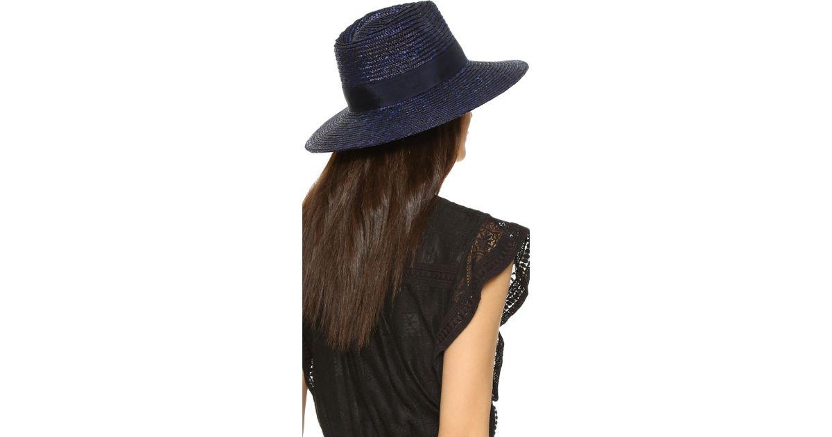 5c3de1be9e2dc4 Brixton Joanna Hat in Blue - Lyst