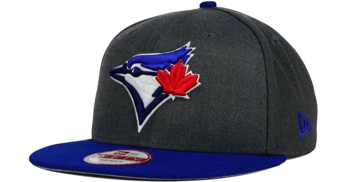 on sale ebba5 5b077 australia lyst ktz toronto blue jays graphite speed up 9fifty snapback cap  in gray for men