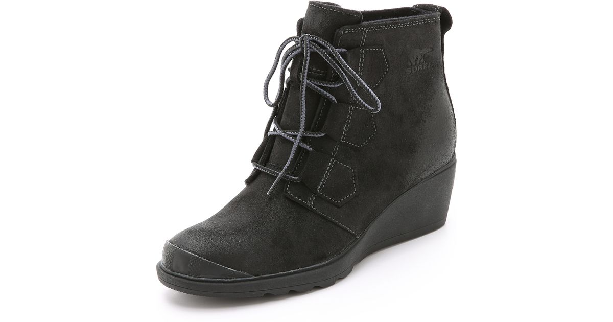 fac480d7e946 Lyst - Sorel Toronto Lace Wedge Booties in Black