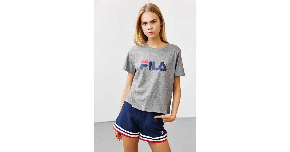 6f4ea092e Fila + Uo Miss Eagle Logo Tee in Gray - Lyst