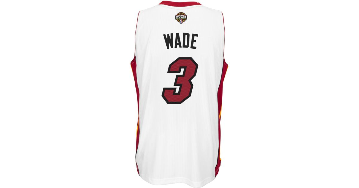 lowest price e44de fcb51 Adidas - White Men's Dwyane Wade Miami Heat Enebea Swingman Jersey for Men  - Lyst
