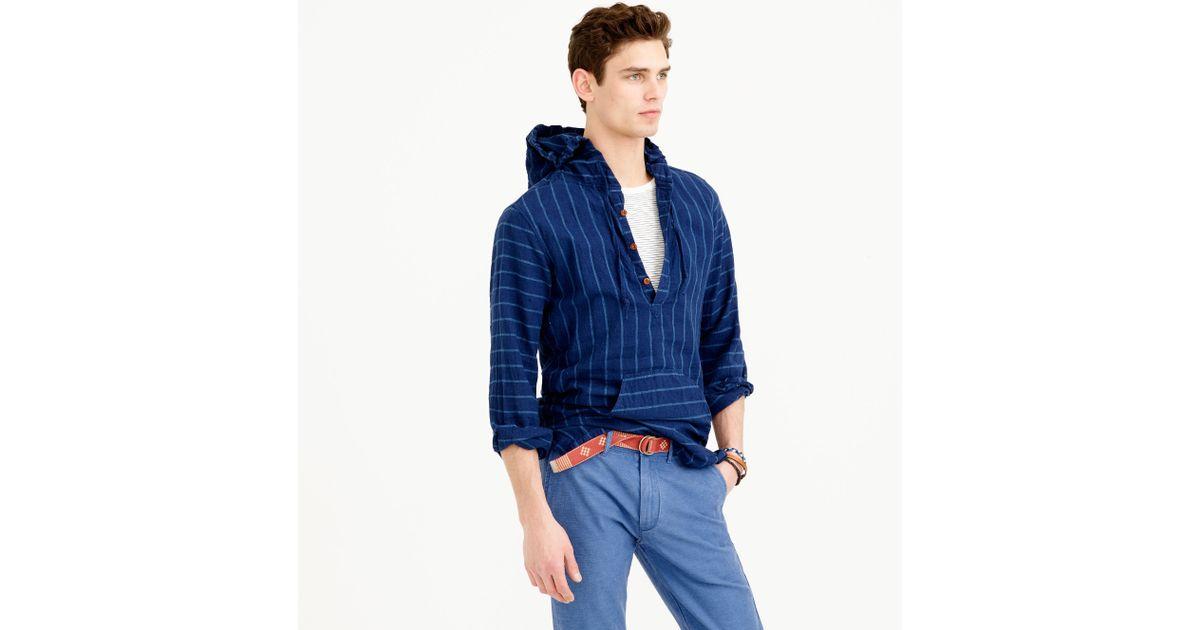0d8c6826f0 Lyst - J.Crew Baja Shirt In Indigo-striped Japanese Linen-cotton in Blue  for Men