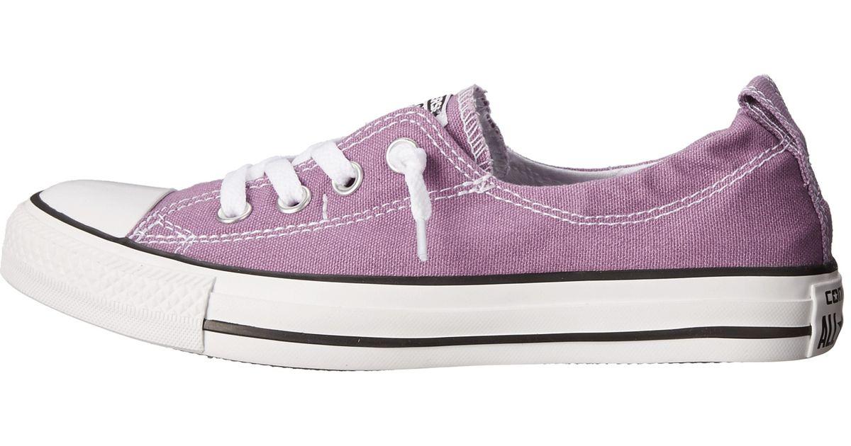 55f35310377b50 Lyst - Converse Chuck Taylor® All Star® Shoreline Seasonal Color Slip in  Purple