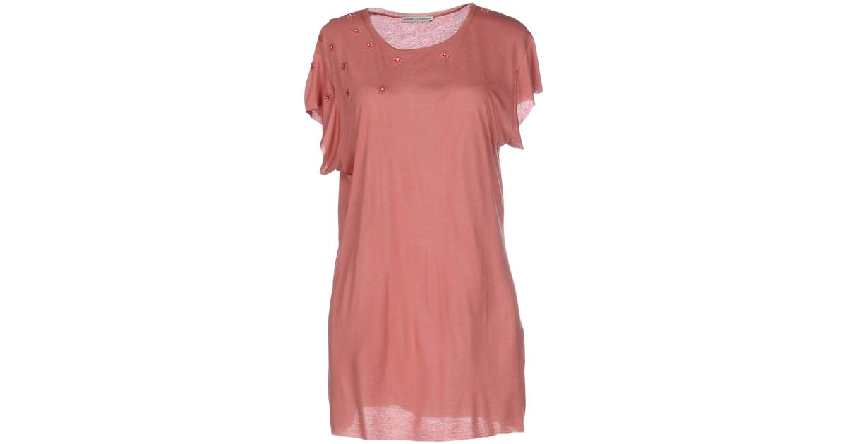 Ambre Babzoe T Shirt In Red Pastel Pink Lyst