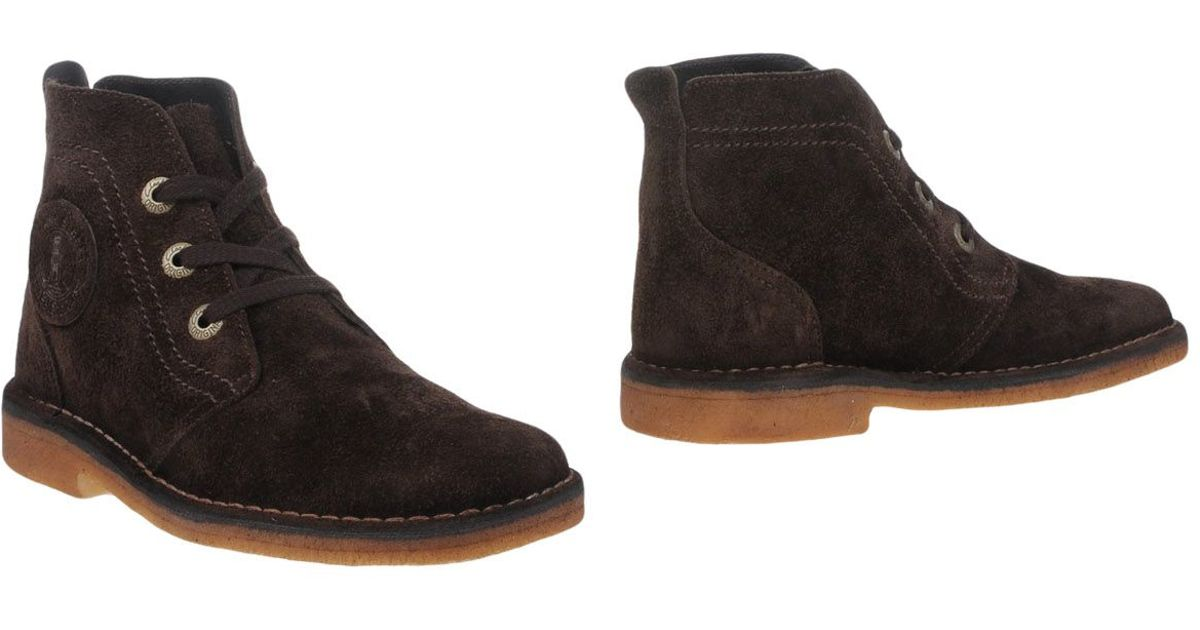 clarks ankle boots in brown for lyst